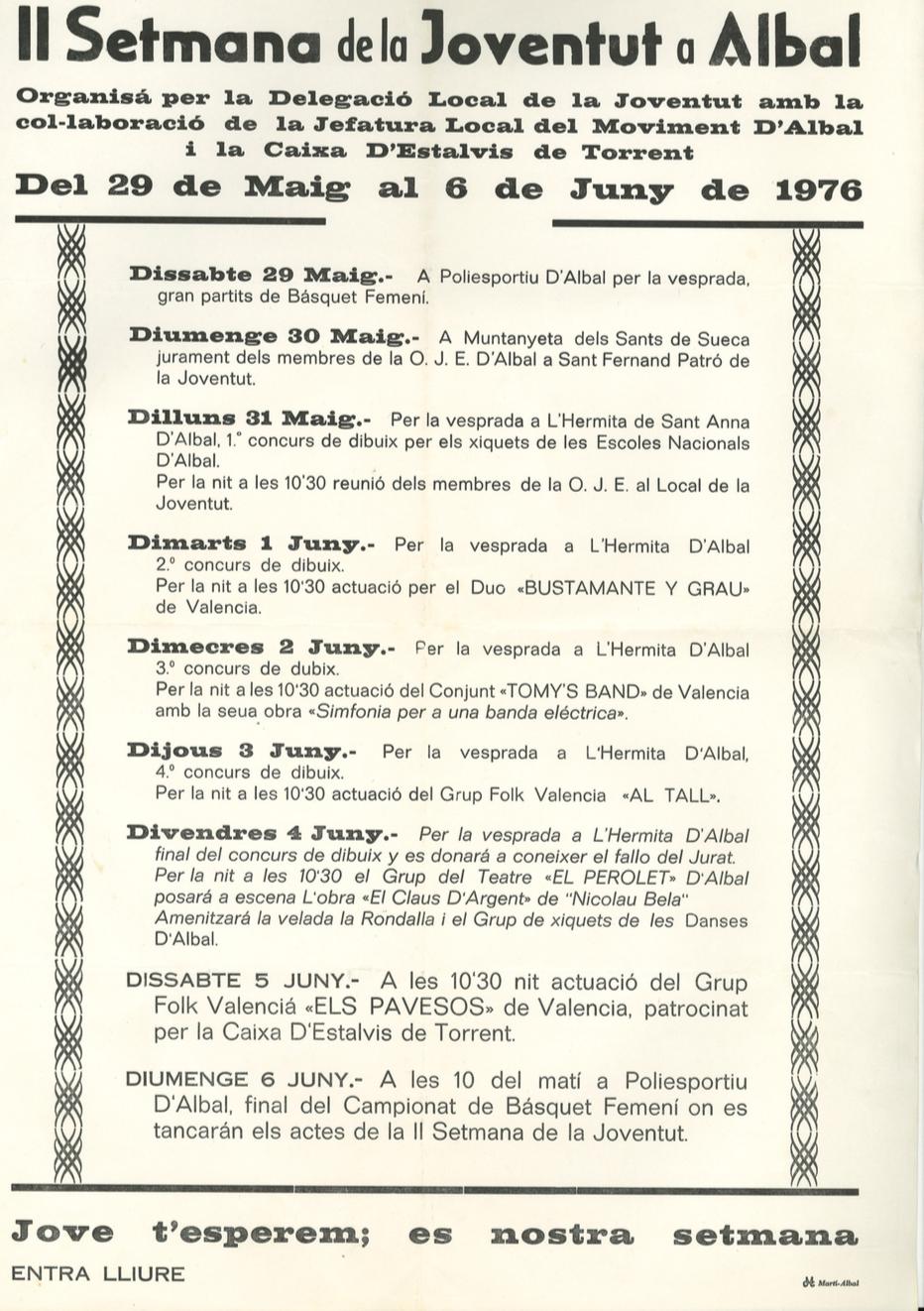 1976 Pavesos Cartell Albal