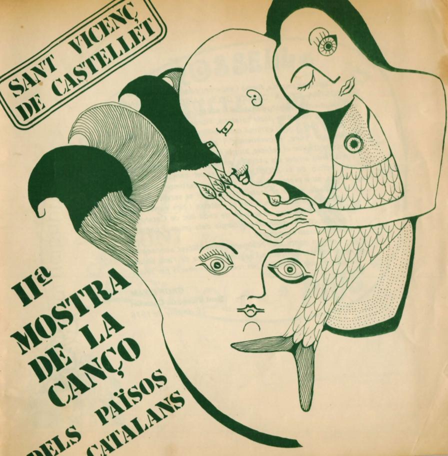 1976 Pavesos Llibret lletres cançons. II Mostra de La Cançó dels Països Catalans