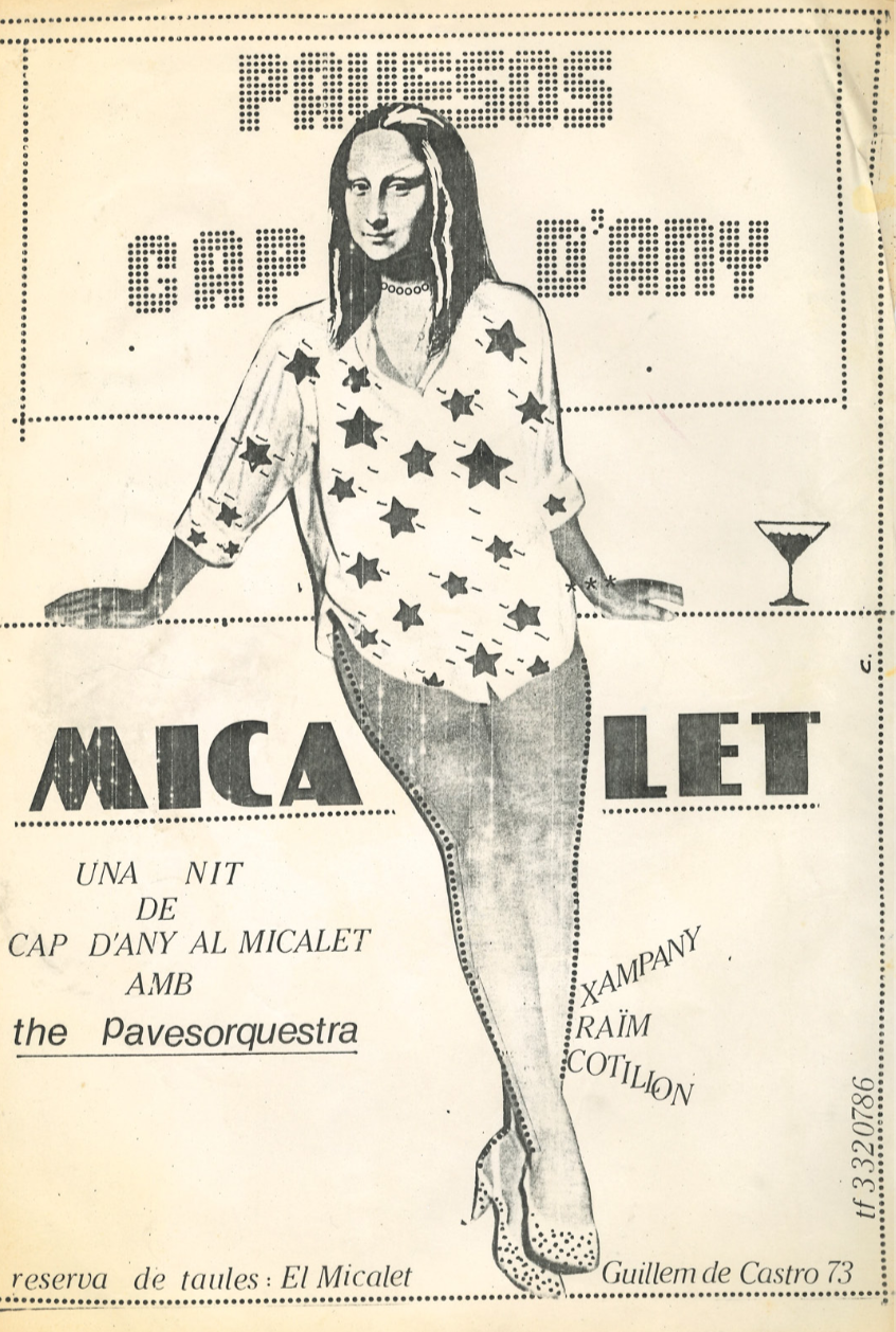 1977 Pavesos Cartell Cap d'Any al Micalet