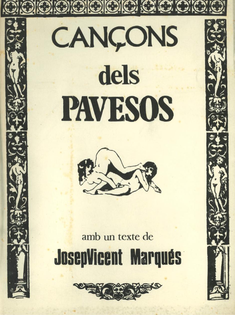 1977 Pavesos Llibret Lletres Cançons amb Text de Josep Vicent Marqués