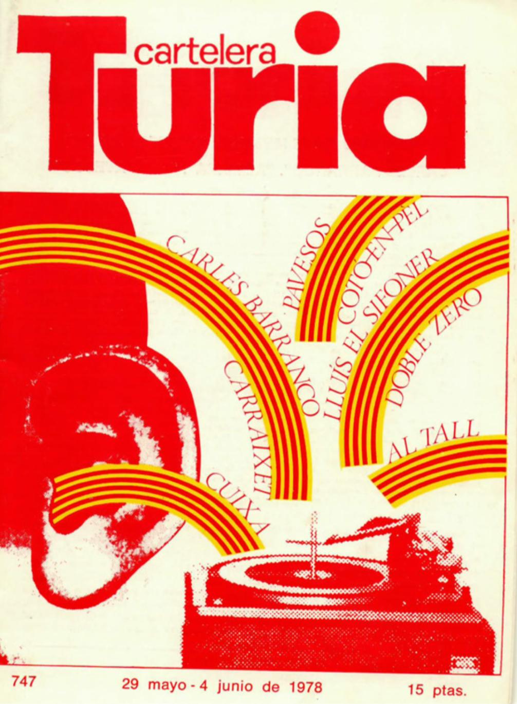 1978 Pavesos El Pardal de Sant Joan i La Bolseria Turia 29 maig