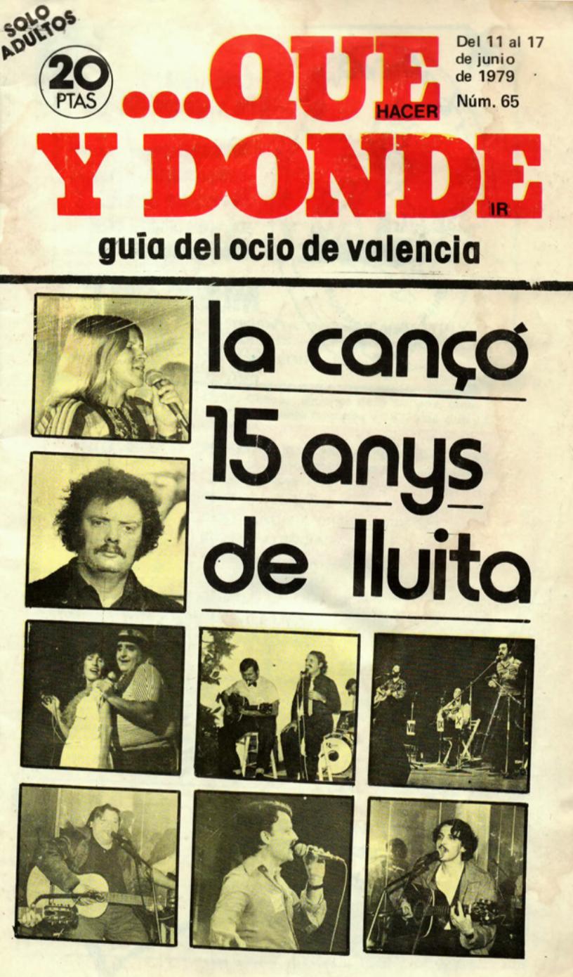 1979 Pavesos 15 Anys de La Cançó Que y Donde 11 juny