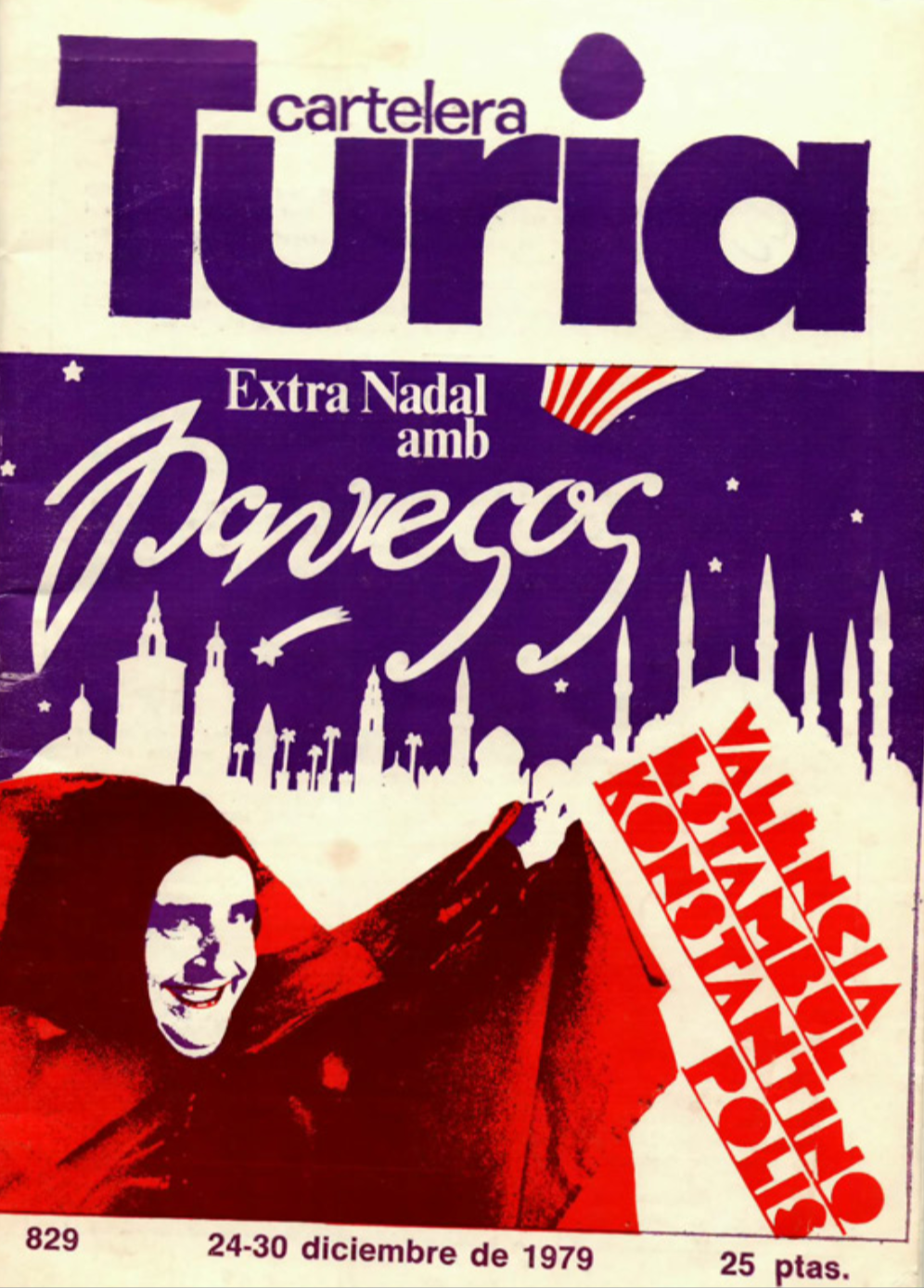 1979 Pavesos València Estambul Konstantinopolis Turia 24 desembre