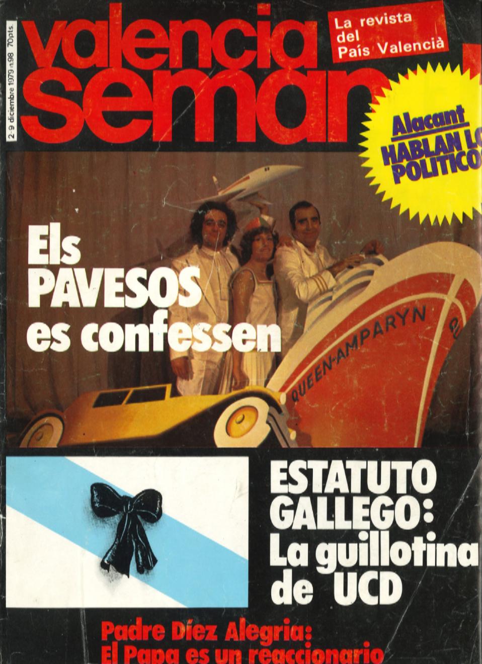 1979 Pavesos València Estambul Konstantinopolis Valencia Semanal Entrevista