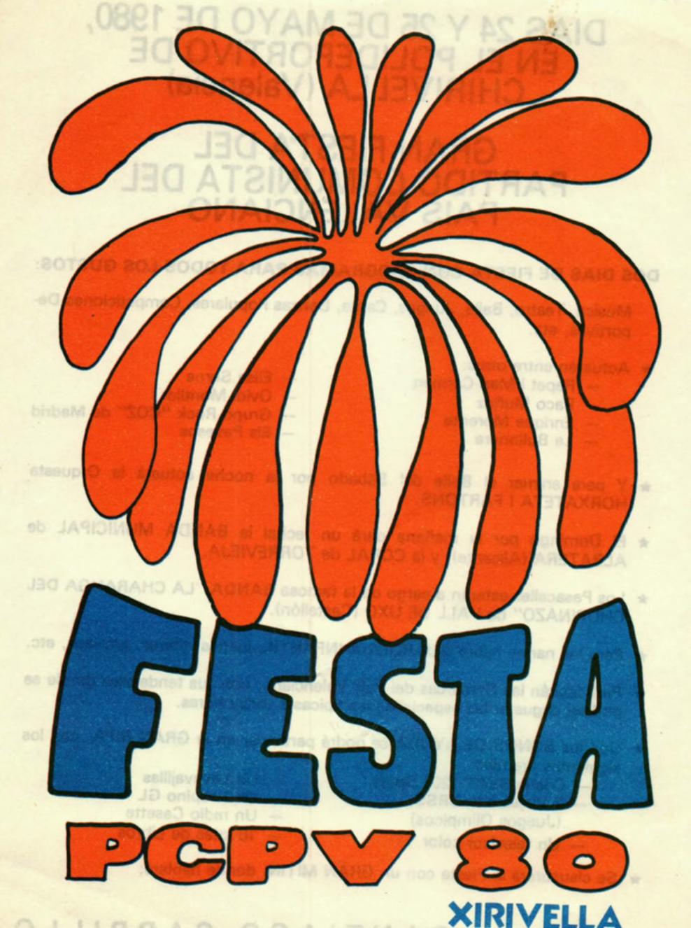 1980 Pavesos Festa PCPV Xirivella