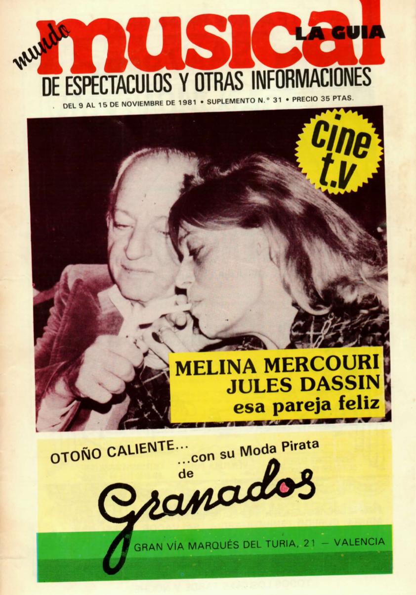 1981 D. Juan Tenorio Teatre Principal València. Musical 9 novembre