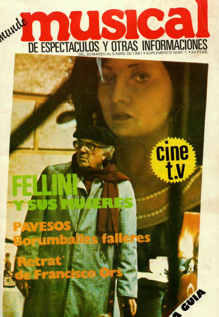 1981 Pavesos Borrumballes Falleres Musical 30 març
