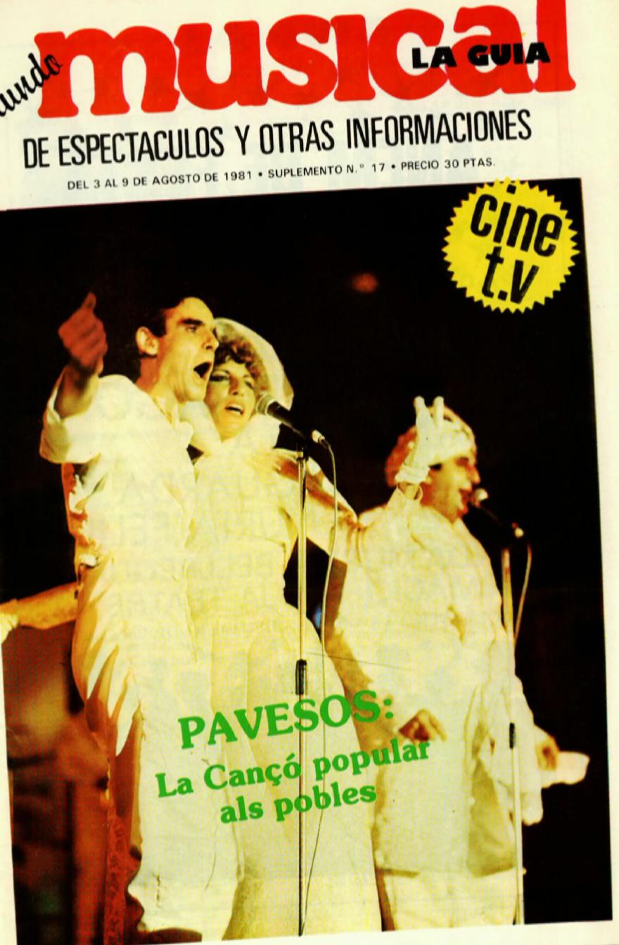 1981 Pavesos La Cançò Popular als Pobles per Toni Mestre. Musical 3 d'agost