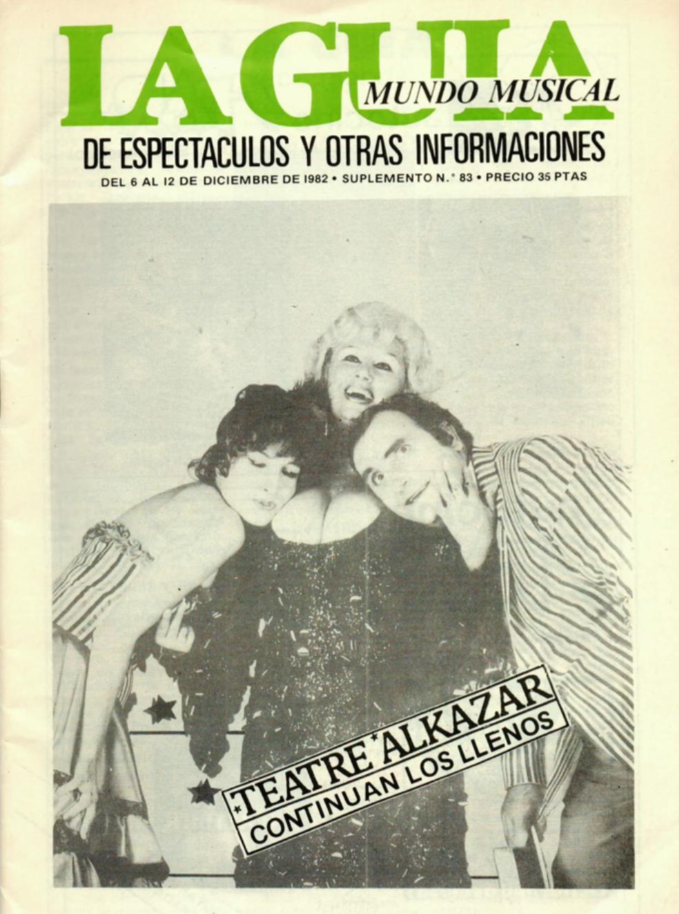 1982 Pavesos Nou i Mig Teatre Alkázar La Guia 6 desembre