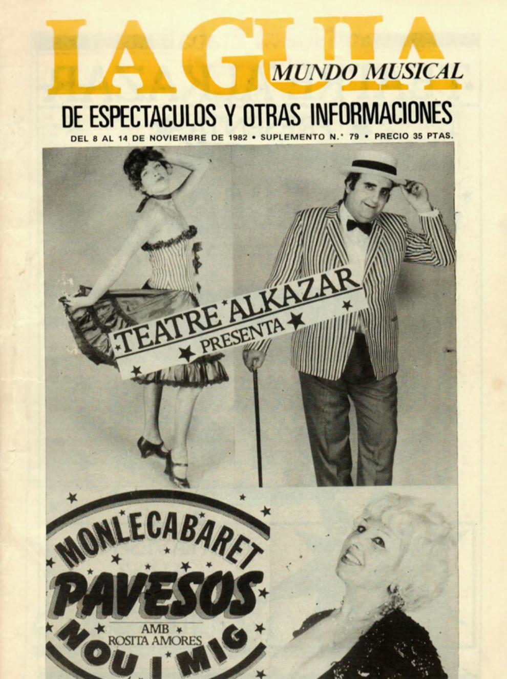 1982 Pavesos Nou i Mig Teatre Alkázar La Guia 8 novembre Merxe Banyuls per R. Ventura Melià
