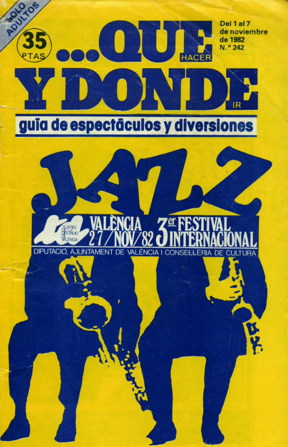 1982 Publicitat Pavesos Nou i Mig Teatre Alkázar Que y Donde 1 novembre