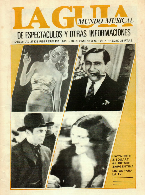 1983 Pavesos Núria Feliu TV Catalana Al Caliu de La Feliu. La Guia 21 febrer
