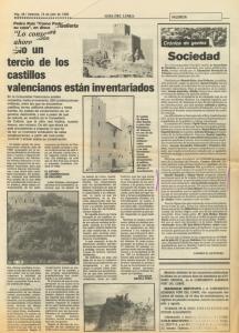 1985 Estiu, Espais i Moda Hoja del Lunes, Levante, Las Provincias