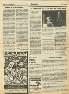 1986 Espectacles i Societat Las Provincias, Levante
