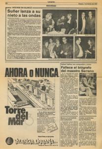 1987 Societat i Cultura Levante, Las Provincias
