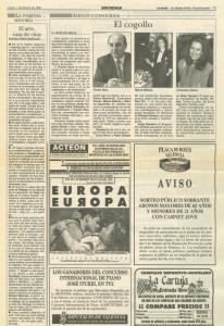 1993 Societat Cultura Opinió Levante, Las Provincias