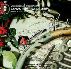 1997 Banda Primitiva de Llíria. Programa de mà