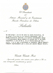 2002 Pasdoble Estrena Saluda President Ateneu Musical Banda Primitiva de Llíria