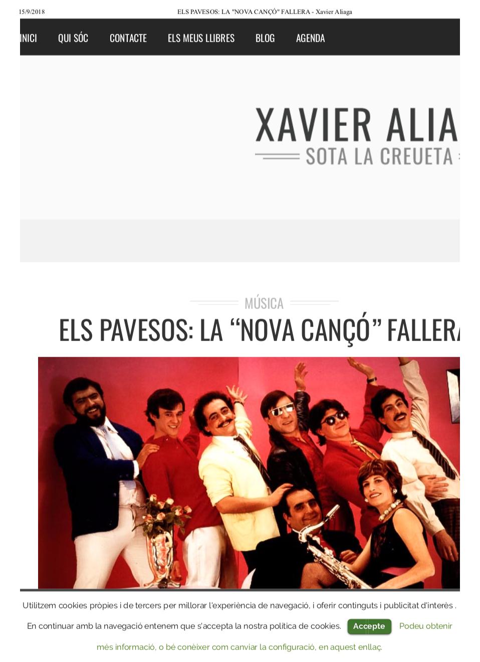 2011 Els Pavesos La Nova Cançò Blog Xavier Aliaga 22 març
