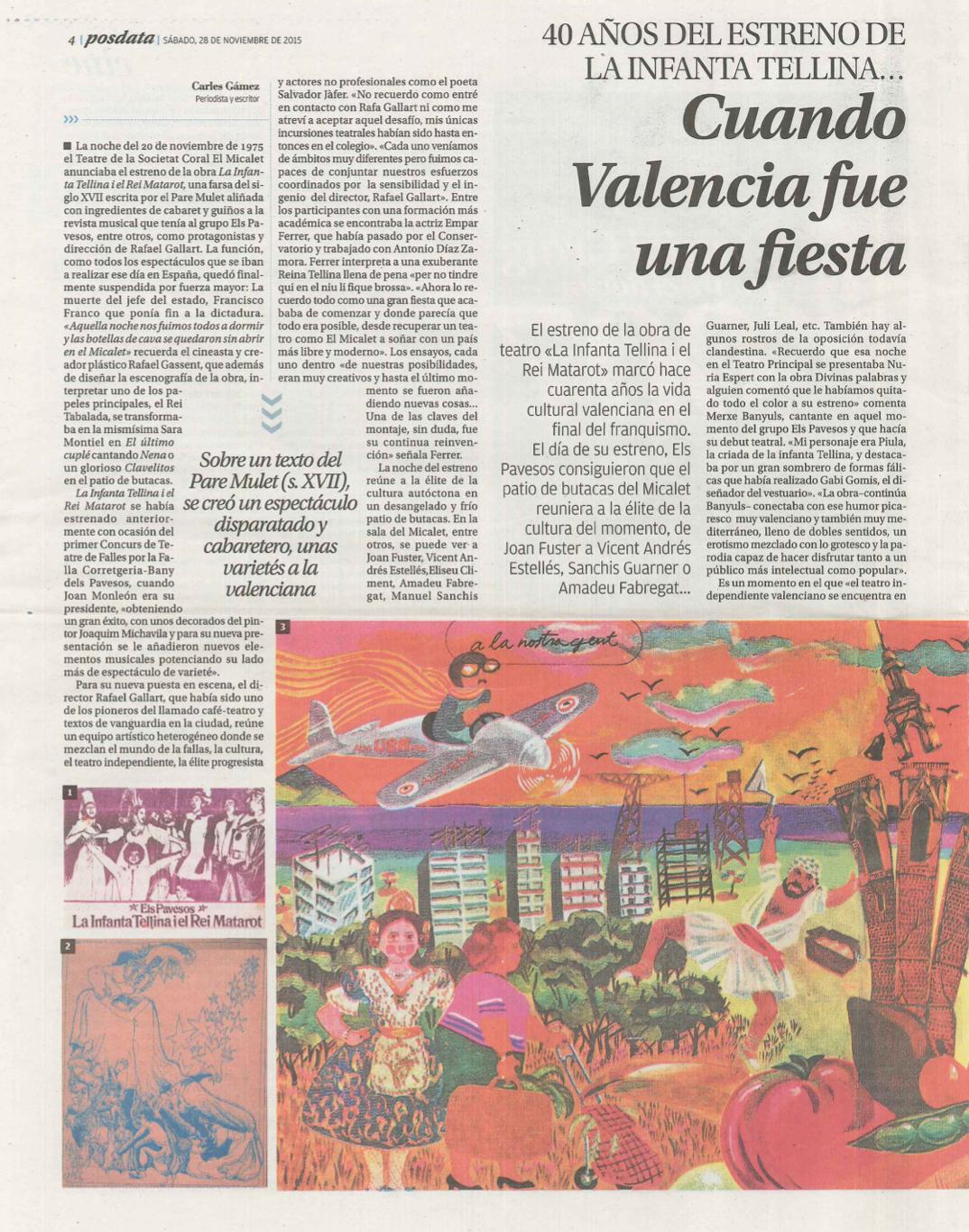2015 40 Anys de La Infanta Tellina Levante 28 novembre