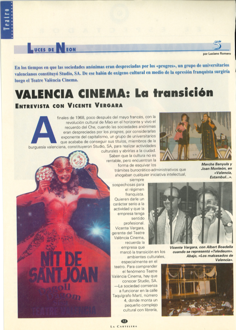 Pavesos La Cartelera València Cinema