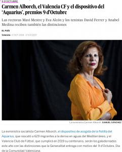 2018 Distinció al Mèrit Cultural GVA El País 6 d'octubre