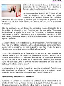 2018 Distinció al Mèrit Cultural GVA Nota de premsa 5 d'octubre