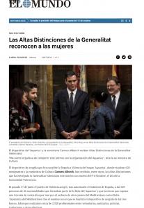 2018 Lliurament Distinció al Mèrit Cultural GVA El Mundo 9 d'octubre